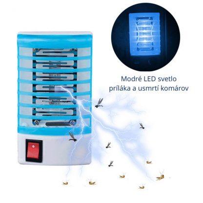 Elektrický lapač hmyzu do zásuvky, lampa proti komárom