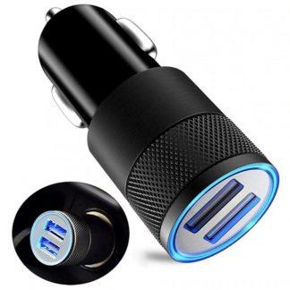 LED podsvietená Nabíjačka do auta 2 x USB univerzálna [1+1 ZDARMA]